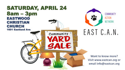 Make Room for Summer & the East CAN Community Yard Sale – April 24